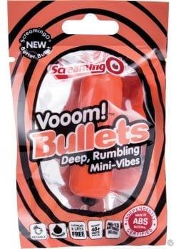 Vooom Bullets Mini Vibes Waterproof Tangerine 20 Each Per Box