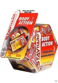 Body Action Stayhard Water Based Lubricant 3cc Foil 144/bowl