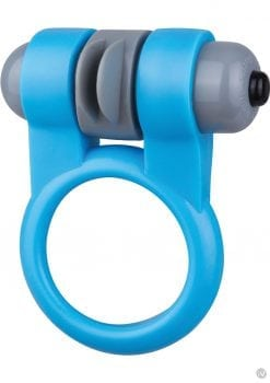Screaming O Sport Vibrating Cockring Waterproof Blue 6 Each Per Box