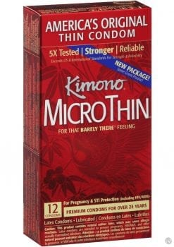 Kimono Microthin Ultra Thin Condoms 12 Pack