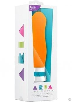 Aria Luminance Silicone Vibe Waterproof Orange 6.25 Inch