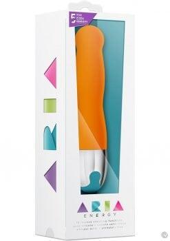 Aria Energy Silicone Vibrator Waterproof Orange 7.90 Inch