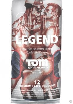 Tom Of Finland One Legend Premium Latex Condoms 12 Each Per Pack