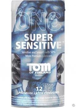 Tom Of Finland One Super Sensitive Premium Latex Condoms 12 Each Per Pack