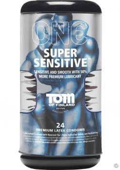 Tom Of Finland One Super Sensitive Premium Latex Condoms 24 Each Per Pack