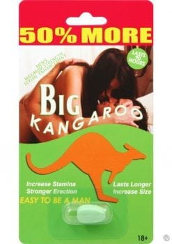 Big Kangaroo Enhancement Pill 30 Single Packs Per Counter Display