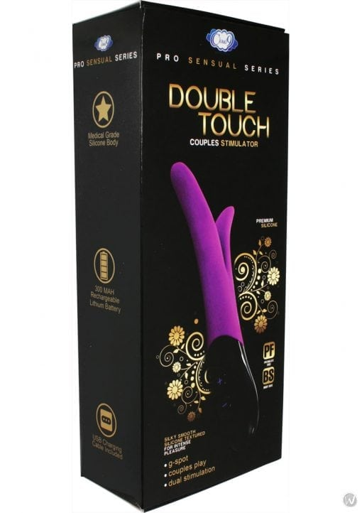 Cloud 9 Pro Sensual Double Touch Silicone Couples Stimulator Purple And Black
