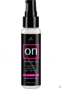 On Arousal Gel Natural Gel For Her Water-Base Original 1 Ounce 12 Each Per Counter Display