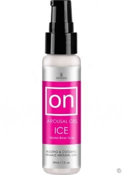 On Arousal Gel Ice Buzzing And Cooling Female Gel Water-Base 1 Ounce 12 Each Per Counter Display