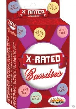 X Rated Candies With Assorted Sayings Mutil Colored 24 Each Per Counter Display