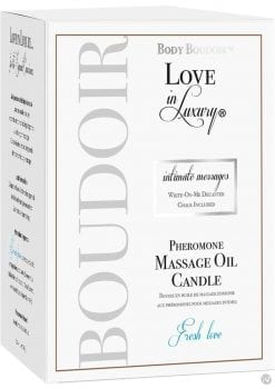 Body Boudoir Love In Luxury Intimate Messages Pheromone Massage Oil Candle Fresh Love