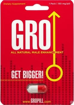 Gro All Natural Male Enhancement Pill 24 Single Packs Per Counter Display