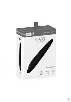 Ovo D5 USB Rechargeable Silicone Mini Vibe Waterproof Black And Gold
