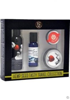 Hemp Seed Tasty Travel Flavored Body Set 100% Vegan Strawberry