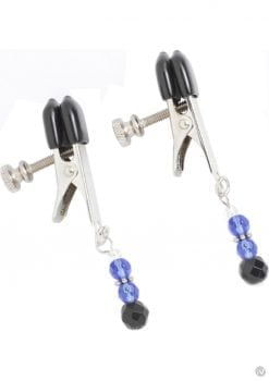 Blue Beaded Clamps With Broad Tip Nipple Clamps Blue