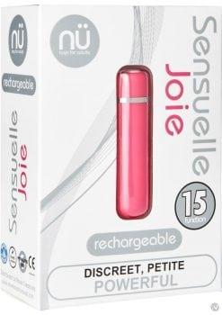 Nu Sensuelle Joie Discreet 15 Function USB Rechargeable Bullet Waterproof Pink 2.5 Inch