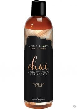 Intimate Earth Chai Aromatherapy Massage Oil Vanilla Chai 8 Ounce