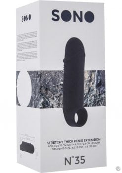 Sono No 35 Stretchy Thick Penis Extension Black
