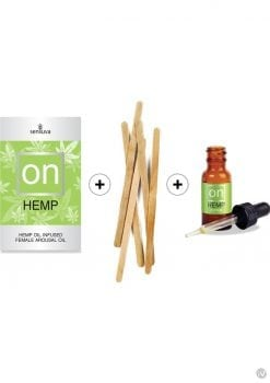 On Hemp Infused Female Arousal Oil Refill Kit 12 Each Per Box With Tester And Sticks