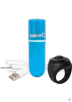 Vooom Wireless Remote Control Silicone USB Rechargeable Bullet Waterproof Blue