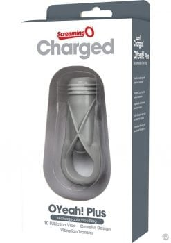 Charged OYeah Plus USB Rechargeable Cock Ring Waterproof Grey