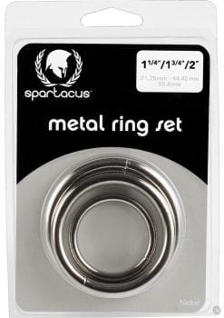 Nickel Cockring Set Silver