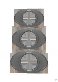 Optimale Easy Grip C-Ring Set Silicone 3 Each Per Set Grey