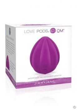 Jimmy Jane Love Pods Om Silicone Vibrator USB Rechargeable Waterproof Purple