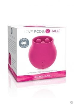 Jimmy Jane Love Pods Halo Silicone Viberator USB Rechargeable Triple Moter Cyclonic Waterproof Dark Pink