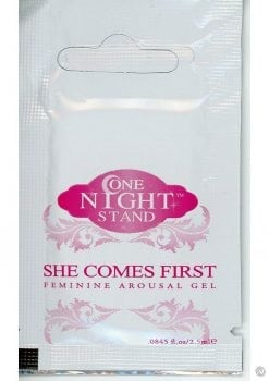 One Night Stand She Comes First Feminine Arousal Gel 2.5 Milliliter