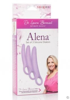 Dr. Laura Berman Intimate Basics Alena Silicone Dialators Set Waterproof Purple 2 Each