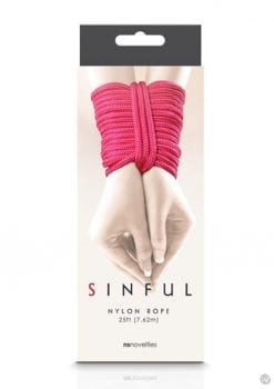 Sinful Nylon Rope Pink 25 Feet