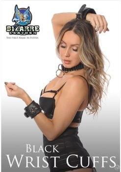 Bizarre Leather Black Wrist Cuffs