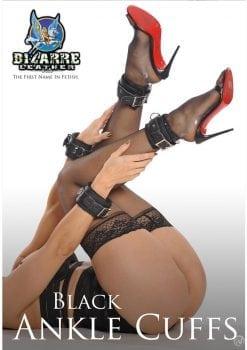 Bizarre Leather Black Ankle Cuffs