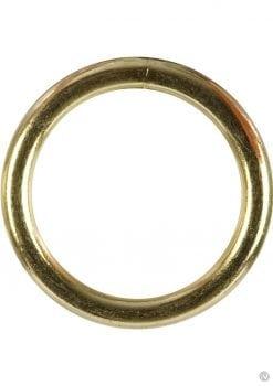 Gold Cock Ring Medium 2 Inch Diameter Gold