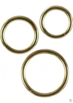Gold Cock Rings 3 Piece Set Silver