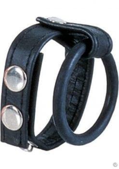 Ball Spreader Adjustable Leather Strap With Ring Medium Black
