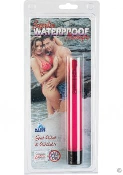 SUPERSLIM WATERPROOF MASSAGER 6 INCH PINK