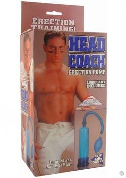 HEAD COACH ERECTION PUMP 7.5 INCH BLUE
