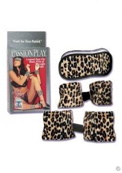 Wrist And Ankle Cuffs Kit Faux Fur Leopard