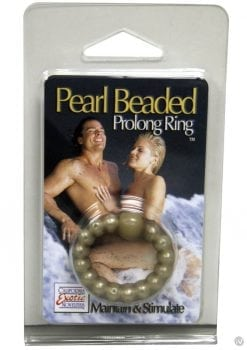 Pearl Beaded Prolong Cock Ring 1.5 inch Diameter Smoke
