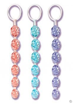 Swirl Pleasure Beads Crystalessence Material 8 Inch Blue