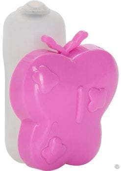 Vibrating Panty Pal Butterfly Tickler Waterproof Pink