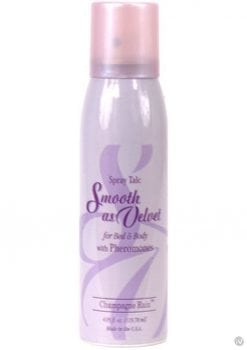 Smooth As Velvet Spray Talc With Pheromones Champage Rain 4.05 Ounce