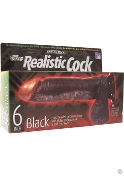 The Realistic Cock 6 Inch Black
