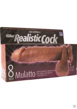 The Realistic Cock 8 Inch Mulatto