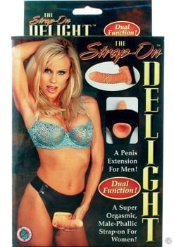 The Strap On Delight Dual Function For Him or Her Flesh