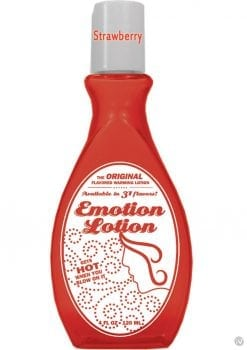 Emotion Lotion Flavored Water Based Warming Lotion Strawberry 4 Ounce