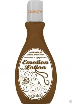 Emotion Lotion Flavored Water Based Warming Lotion Cappucino 4 Ounce