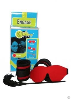 Whip Smart Engage Bondage Kit Fire Red